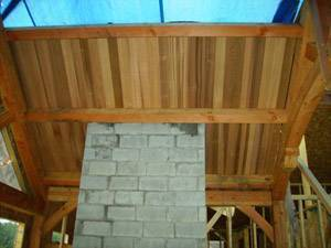 Clear Cedar Tongue and Groove SIPS Panels