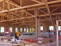 View of internal building framework
